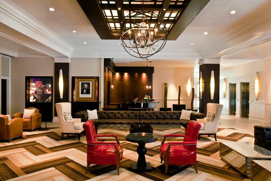 Sam Houston Lobby (c) 2014 Hilton Worldwide