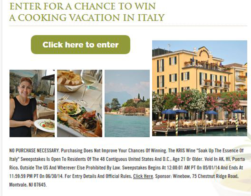 Win a Cooking Trip to Italy