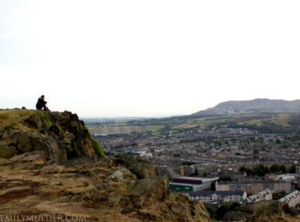 Lone Traveler on Arthur's Seat - Edinburgh