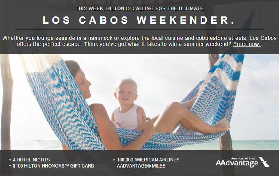 Los Cabos Weekender Sweepstakes by Hilton - MilesGeek