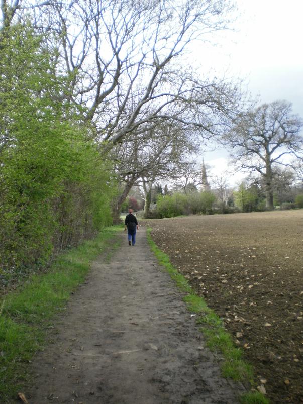Leaving Hidcote Manor