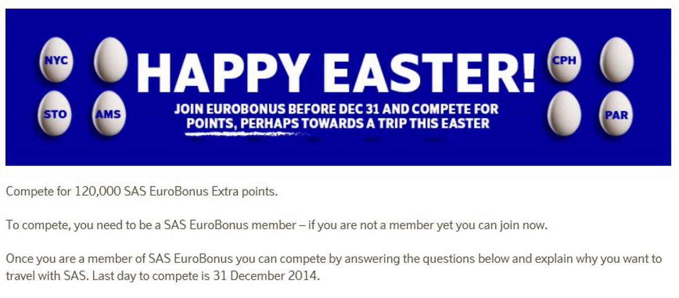 SAS EuroBonus Competition
