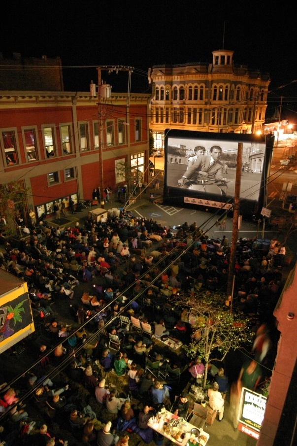 Port Townsend Film Festival Outdoor Movie Venue