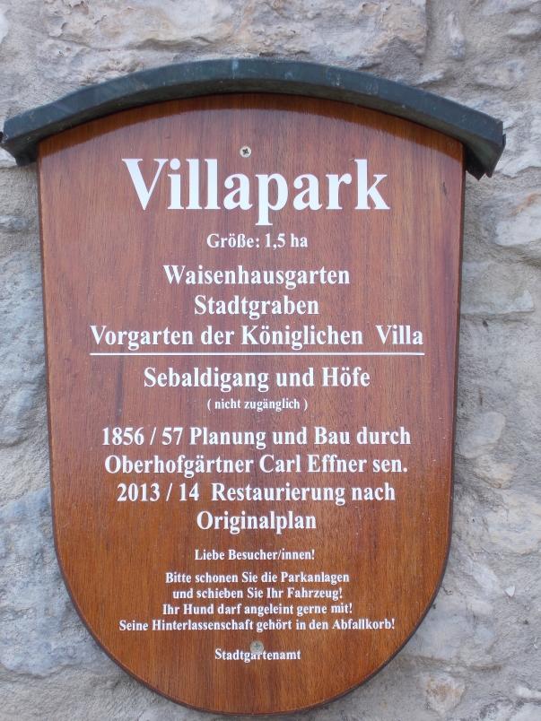 Entrance to Villapark Regensburg