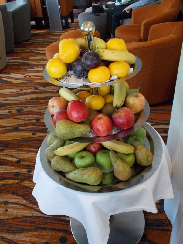 Fresh Fruit is Always Available in the Panorama Lounge