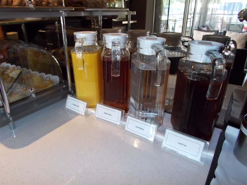 Juices, Iced Tea and Water in Club Lounge with 24 Hour Access