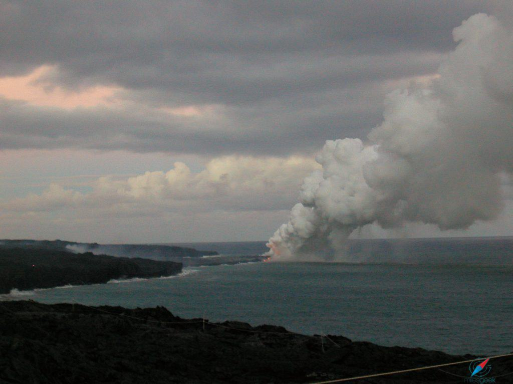 Kilauea Lava meets the sea