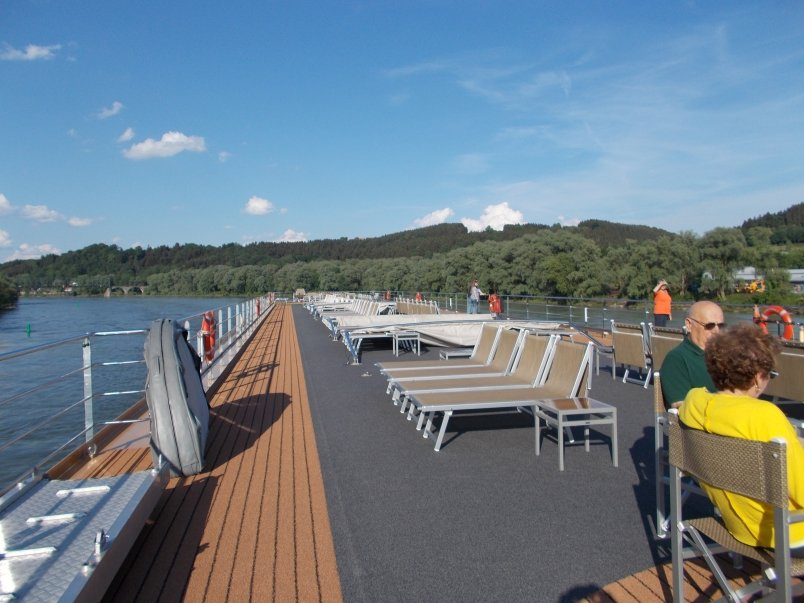 Passengers Quickly Moved Up Top to Take Advantage of View from Sundeck