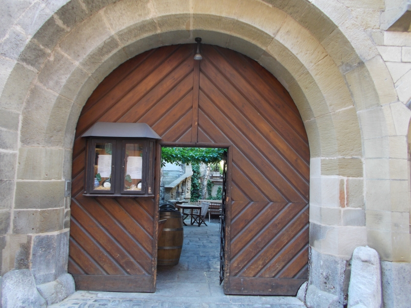 Entrance to Courtyard Restaurant Wurzburg