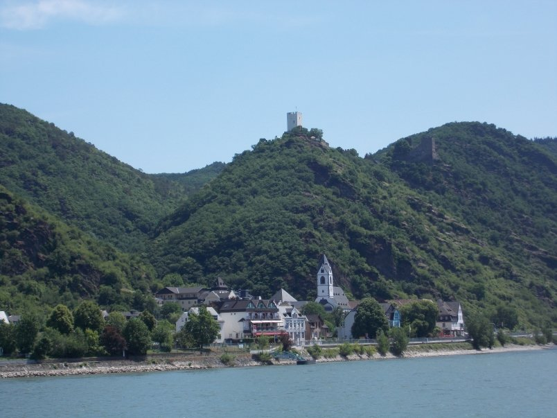 First Castle Sighting on Romantic Rhine Gorge