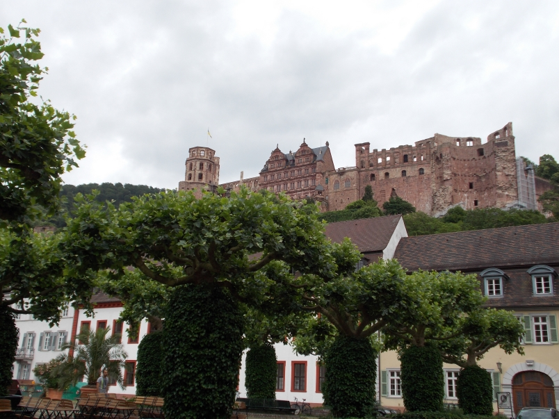 Palace Looks Over Old Town Heidelberg
