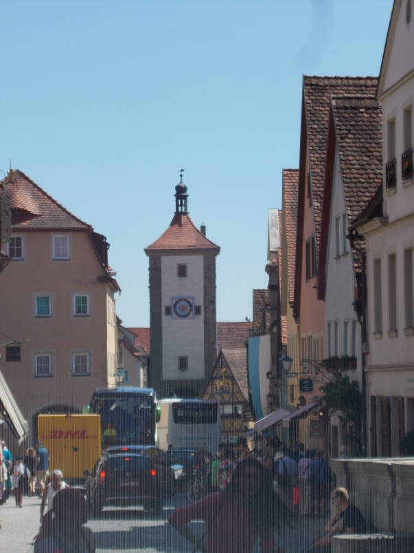 Rothenburg is Less Peaceful out of Pedestrian Only Areas