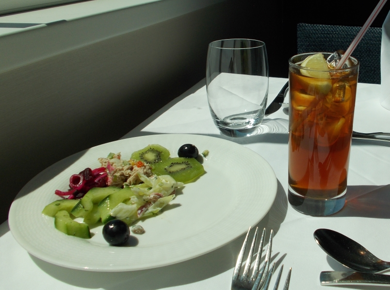 Salad and Iced Tea - Just Right for Lunch on a Day on the River