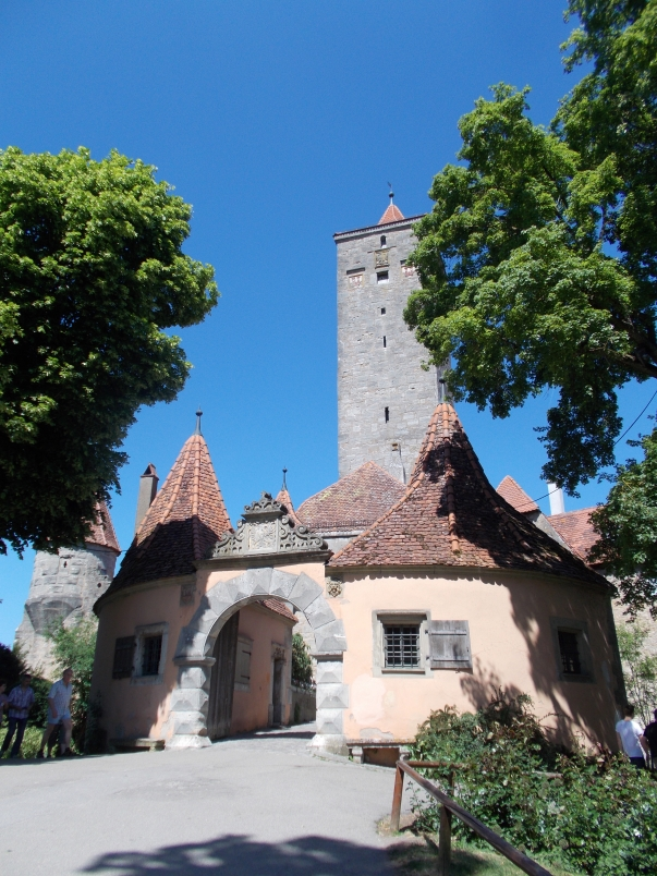 The Castle Gate Separates the Castle Gardens from the Town of Rothenburg