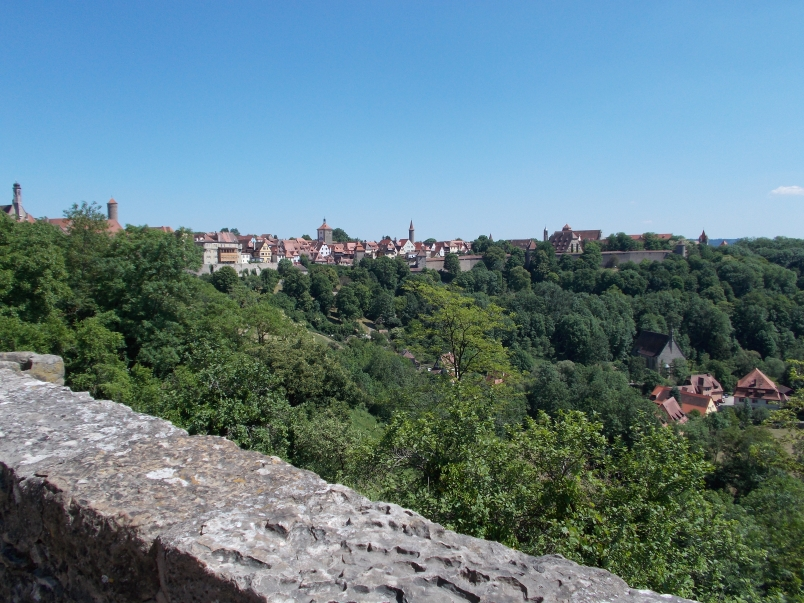 View of Rothenburg and the Tauber Valley from Wall of Castle Gardens