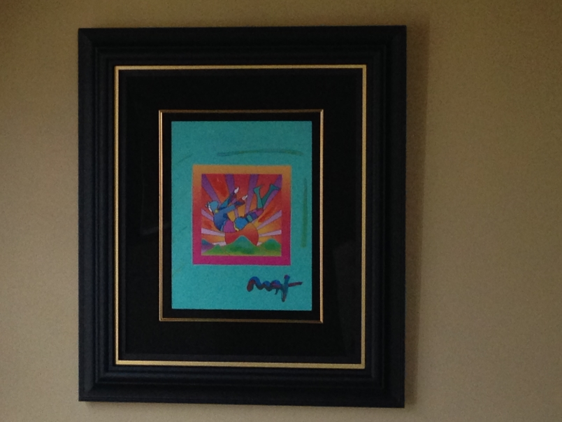 Cosmic Flyer with Sun on Blends by Peter Max