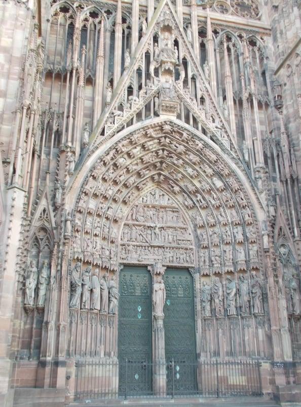 Entrance Strasbourg Cathedral
