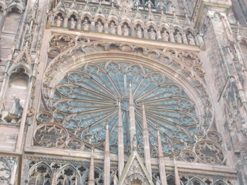 Intricate Sculptural Detail Strasbourg Cathedral Exterior