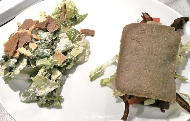 Avocado BLT and Caesar Salad
