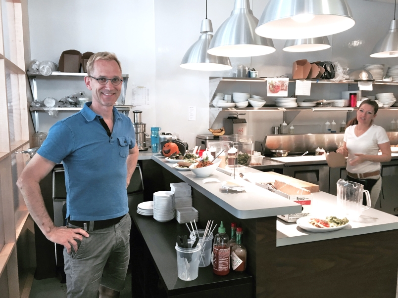 Co-Owner and Business Manager Roland Strobel in the Cider Press Kitchen