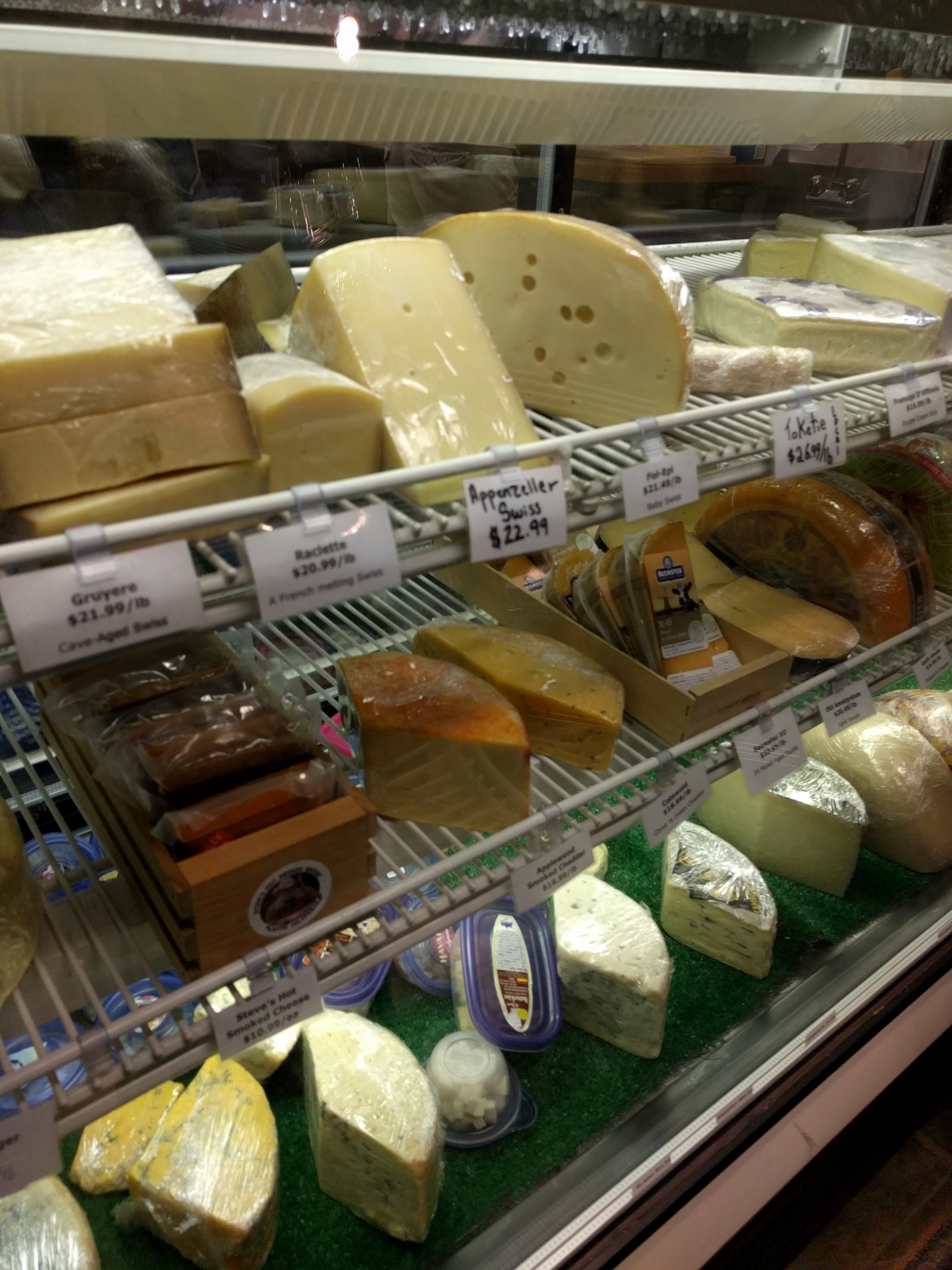 cheese monger display case