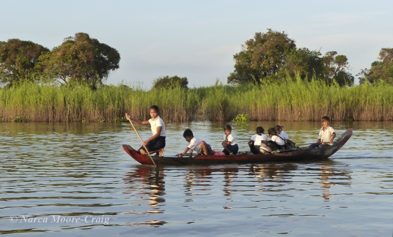 Floating Village going to school