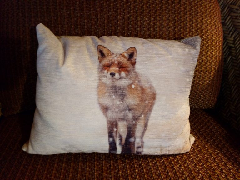 grand river lodge fox pillow
