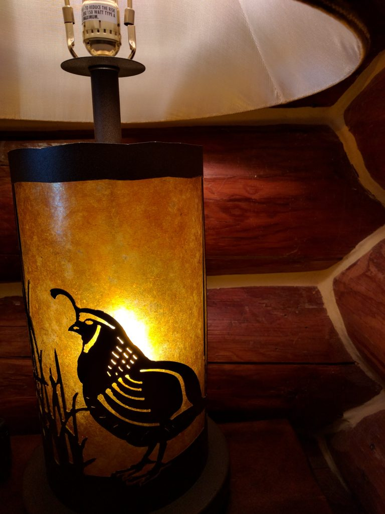 grand river lodge quail lamp