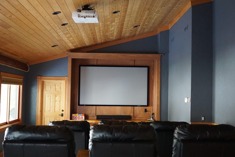 Grand river lodge theater room