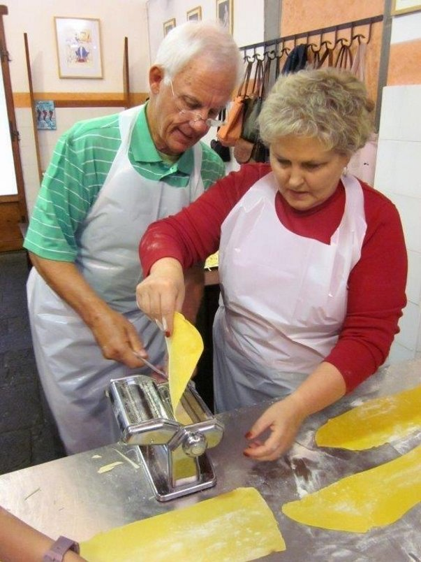 Italy - heavy concentration with a pasta machine