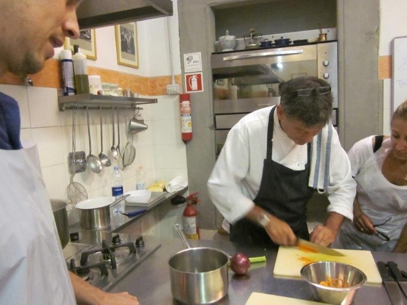 Italy - teacher demonstrating chopping technique