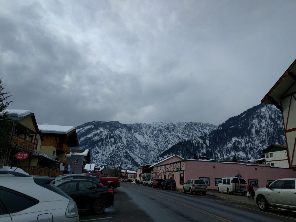 Leavenworth with mountains
