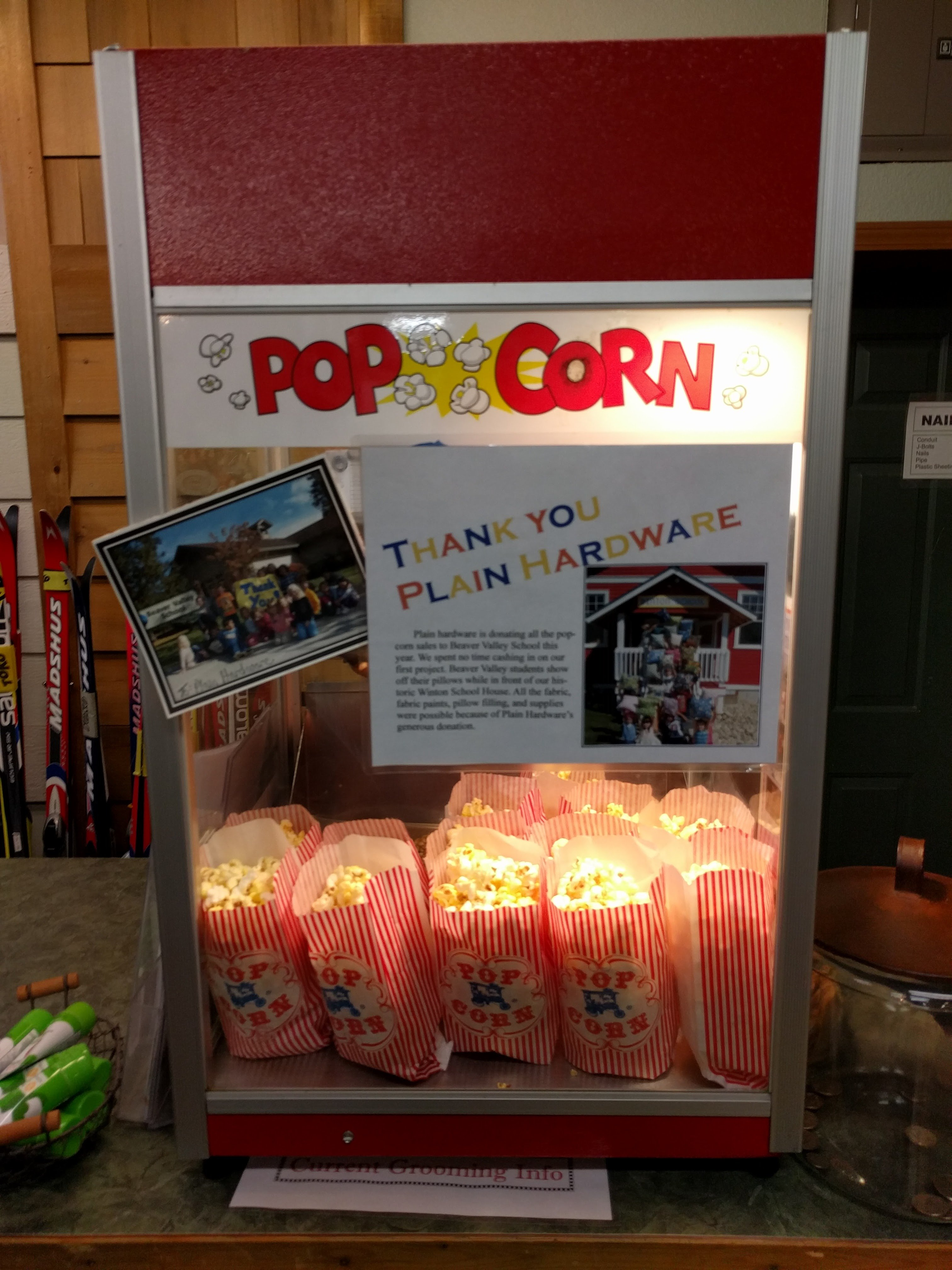 popcorn at Plain hardware