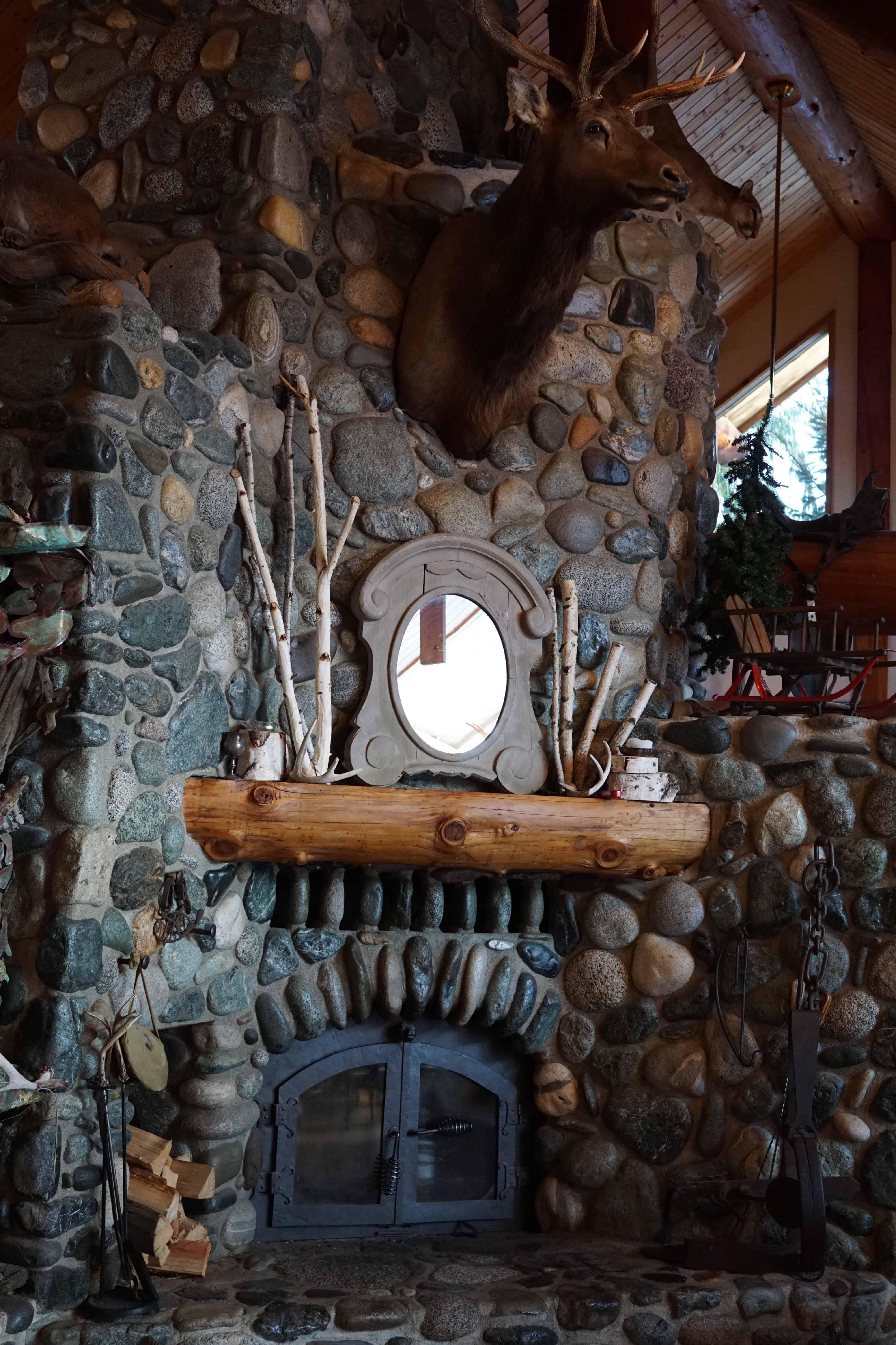 Leavenworth Icicle Winery Fireplace