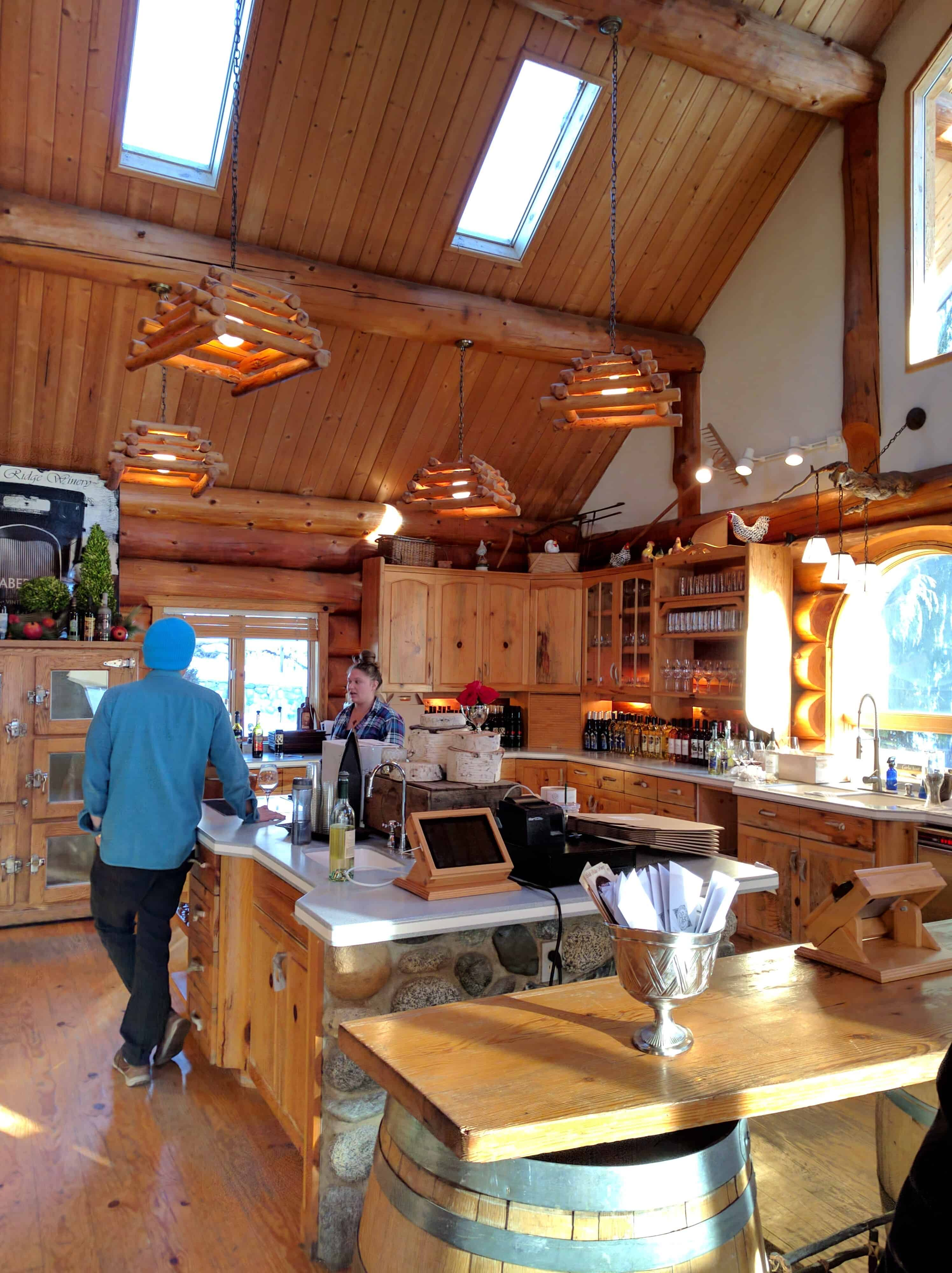 Leavenworth Icicle Winery Tasting Area