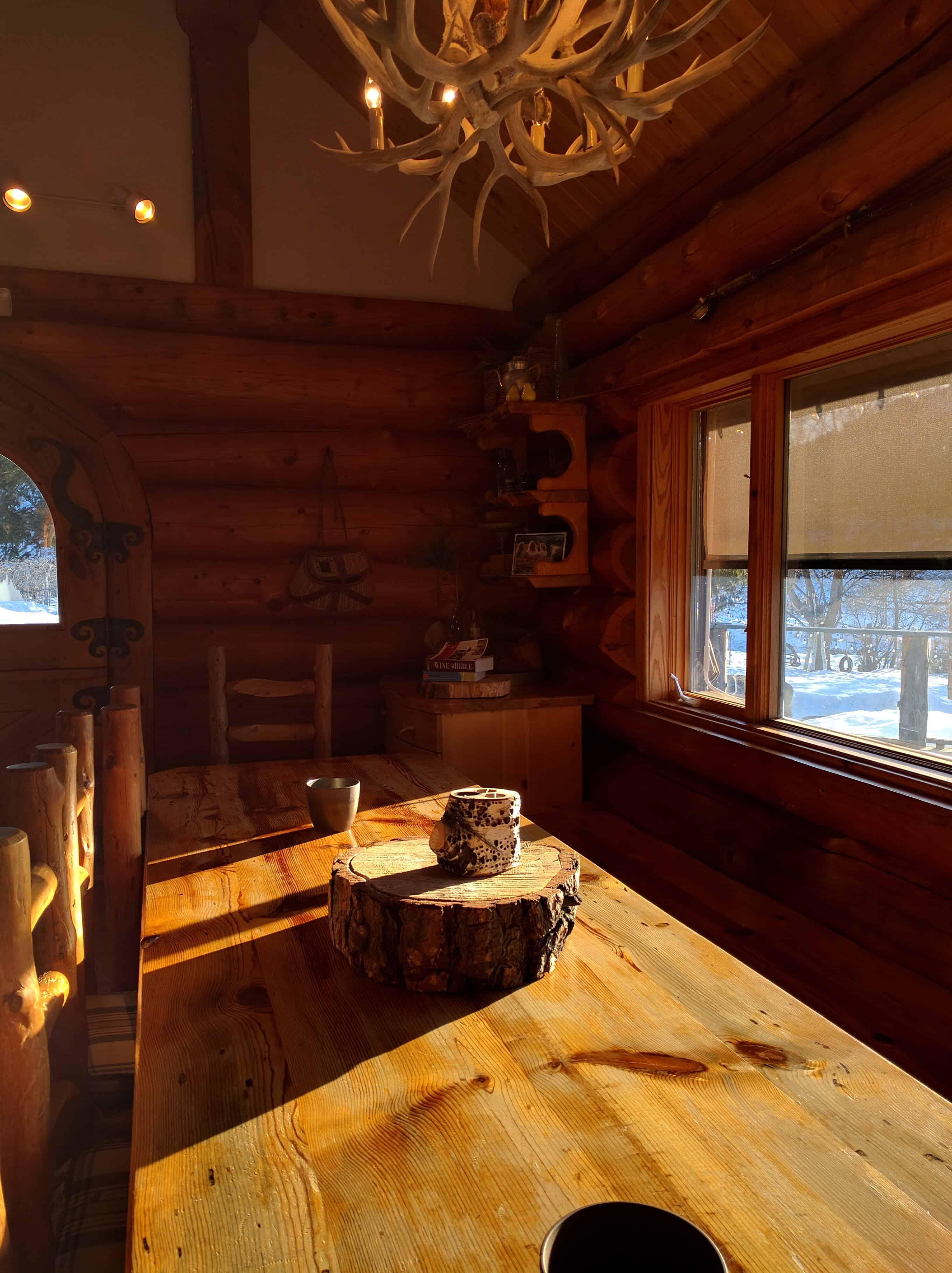 Leavenworth Icicle Winery Tasting Room Table