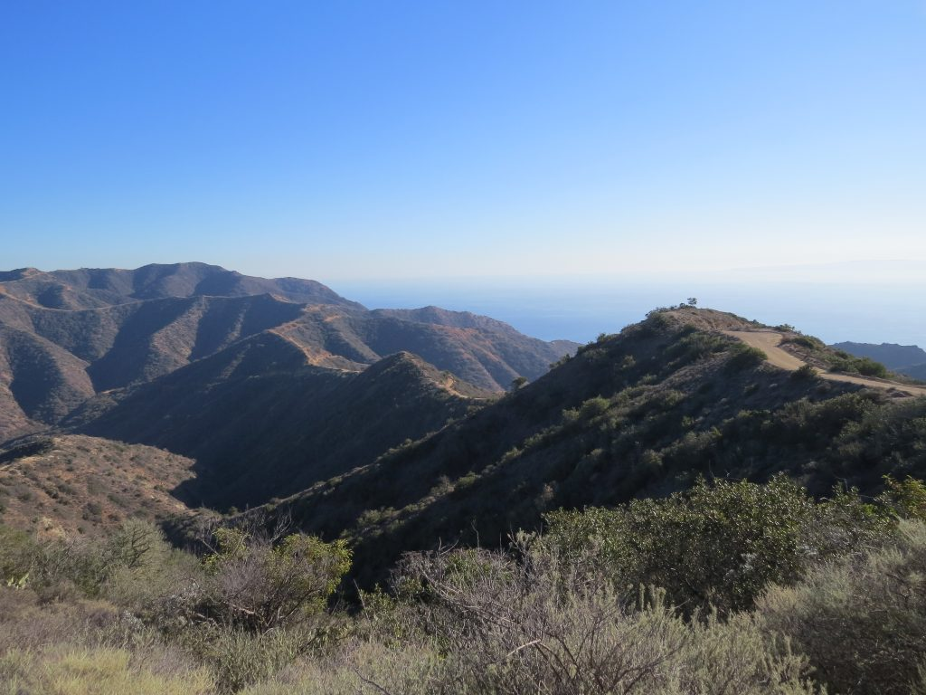 View of the hiking trails atop Catalina Island