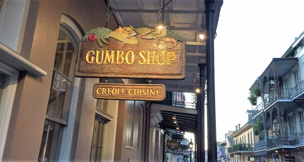 Gumbo Shop from the sidewalk