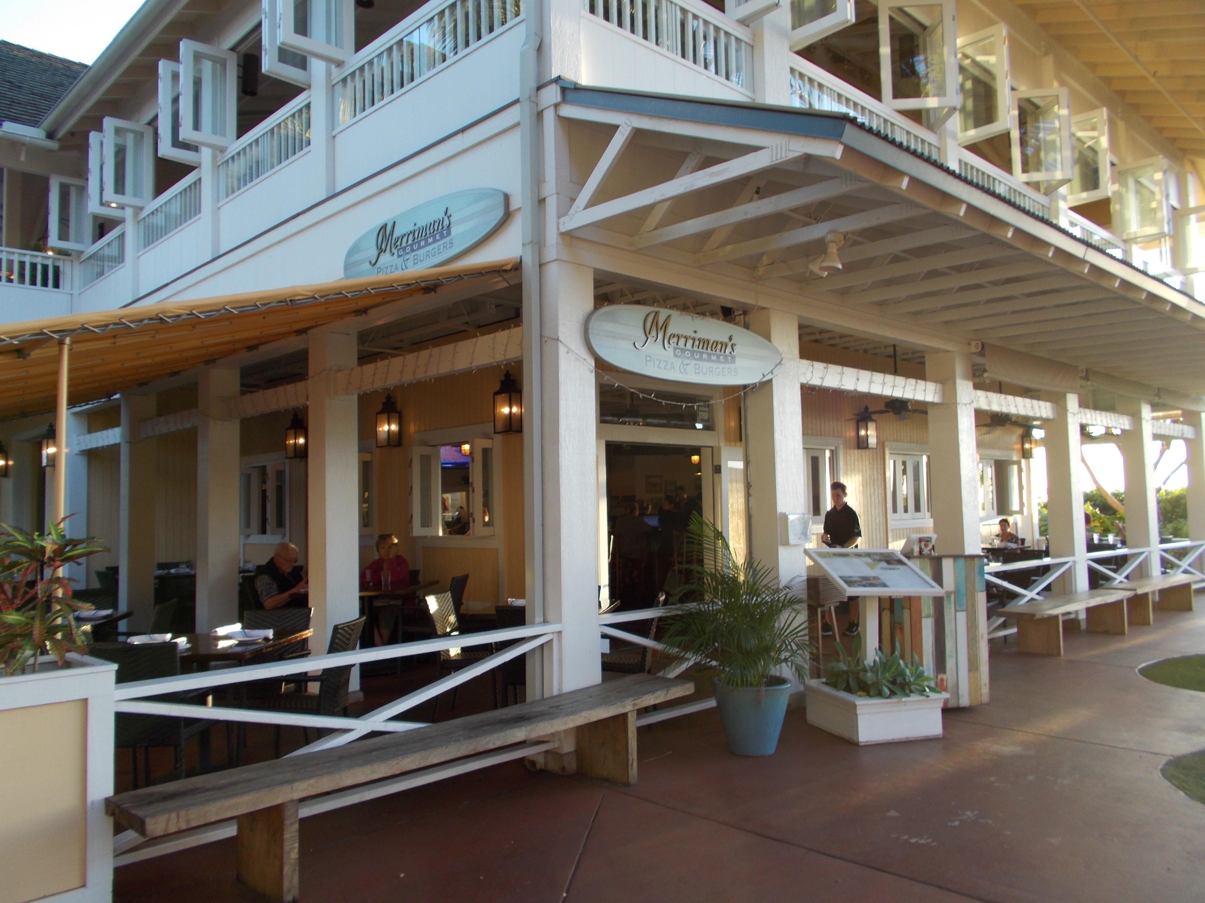 Merriman s gourmet pizza and burgers kauai milesgeek for Merriman s fish house