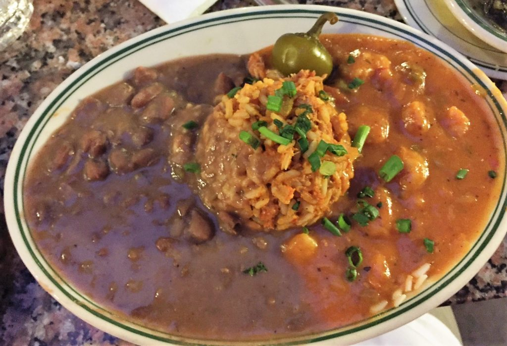 Gumbo Shop Steve's combination plate