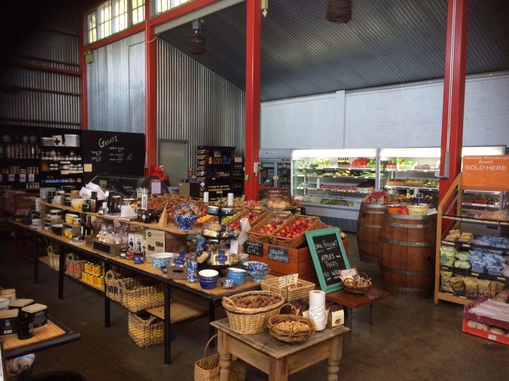 Inside the supermarket at Duck, Duck, Goose and Larder