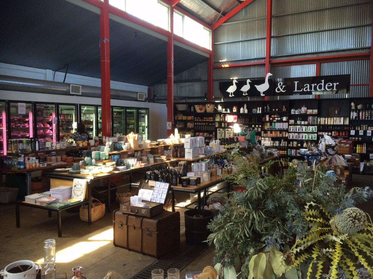 Inside the supermarket - Duck, Duck, Goose and Larder