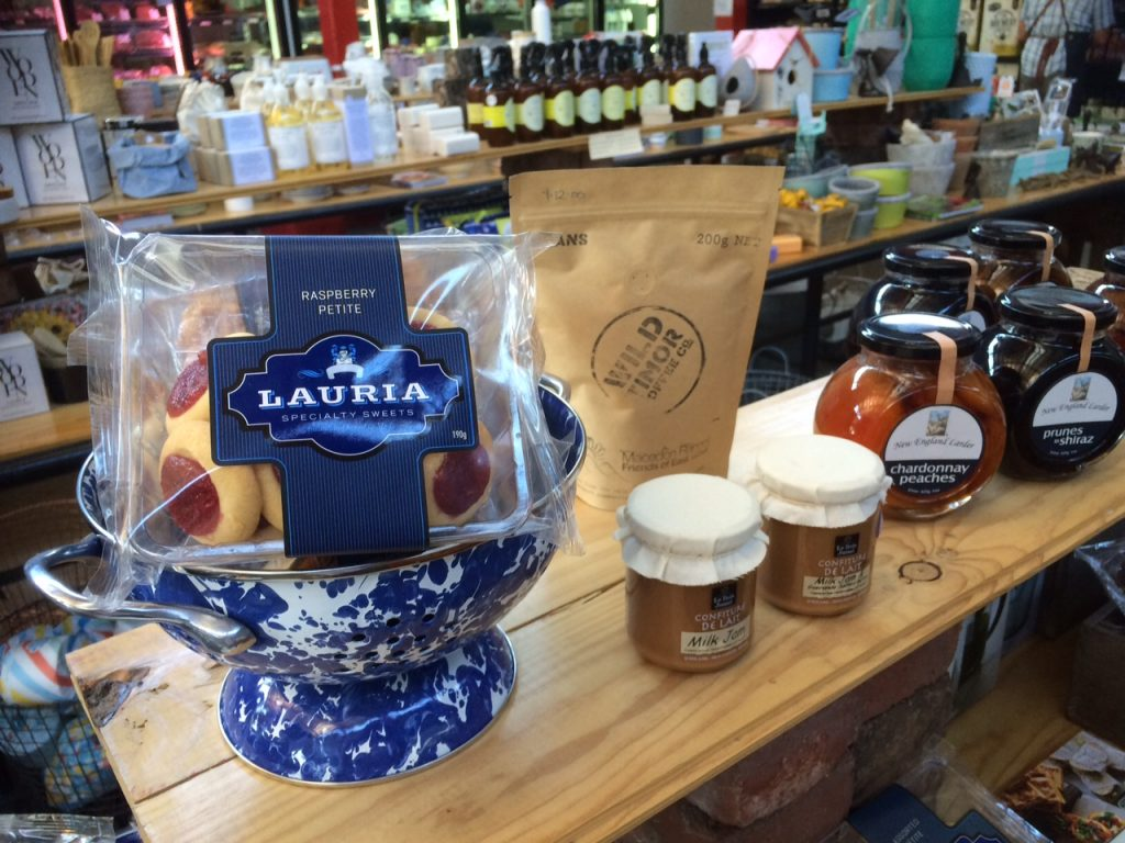 Some of the gourmet products inside Duck, Duck, Goose and Larder