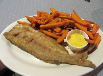 Catfish and sweet potato fries