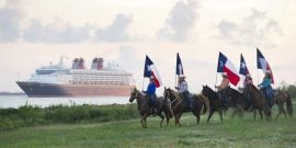 In 2017, Disney Cruise Line returns to Galveston with sailings to the Caribbean and the Bahamas. In this photo taken in 2012, the Disney Magic sails into Galveston for the first time. (Matt Stroshane, photographer)