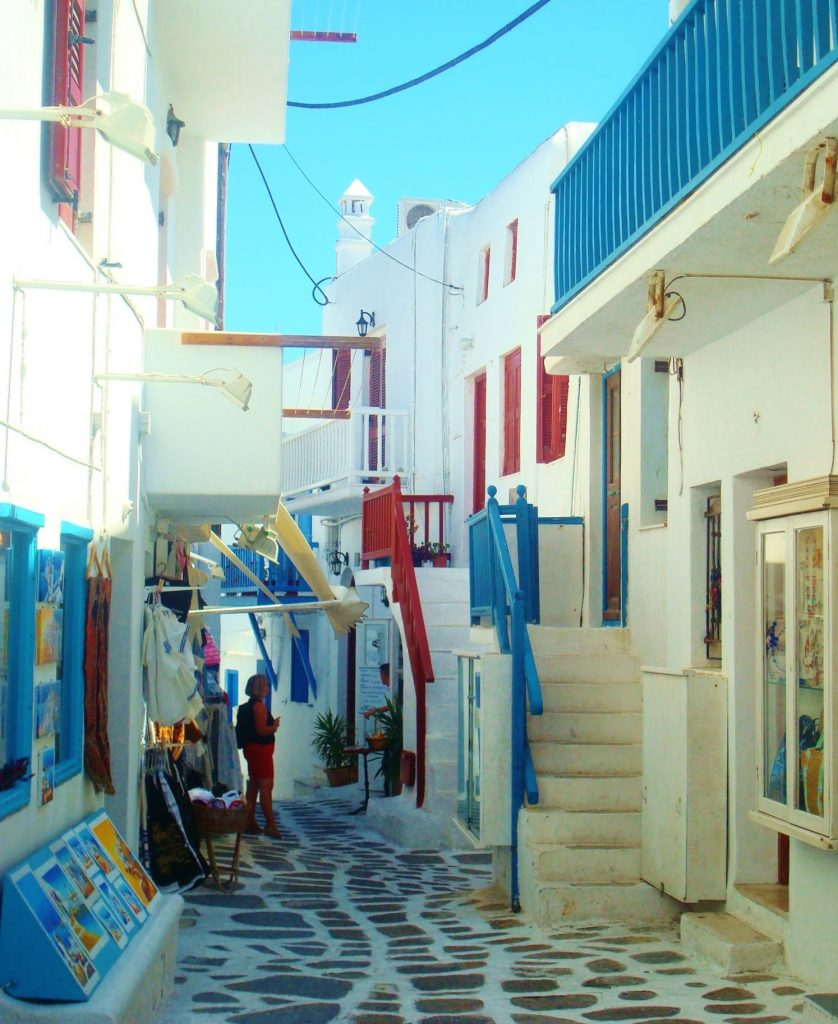 Alleyways of Hora, Mykonos Greece