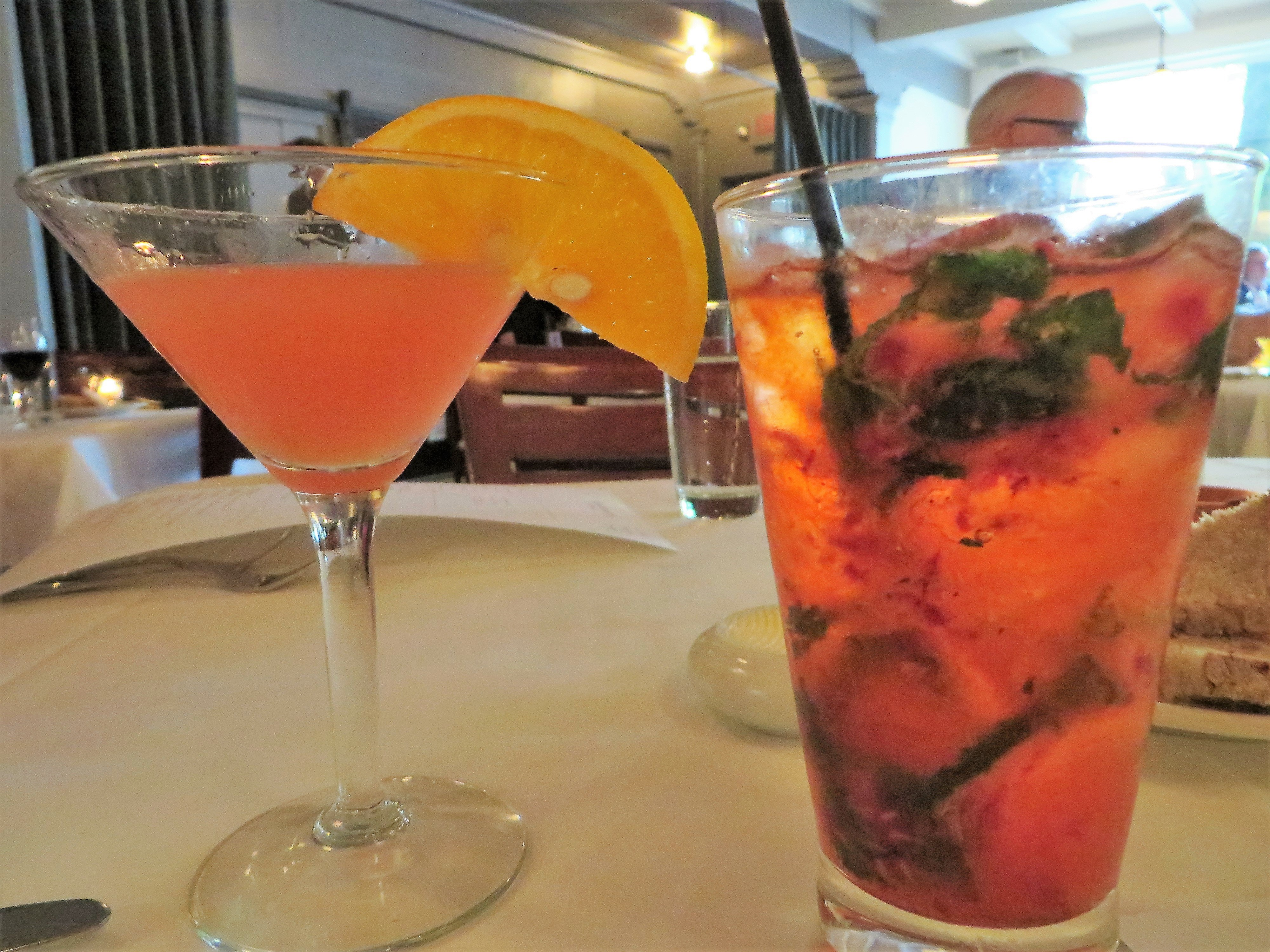 Dog Juice and Strawberry Faux-jito Highlands Bar and Grill