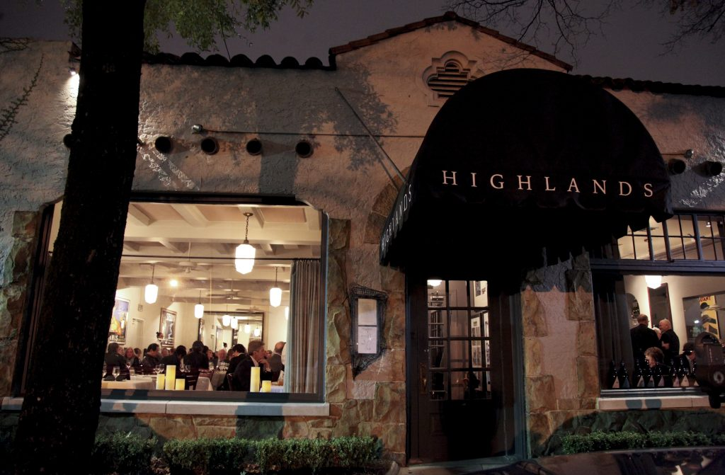 Highlands Bar and Grill Exterior
