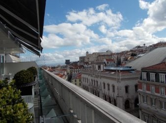 Looking towards river Altis Avenida Lisbon