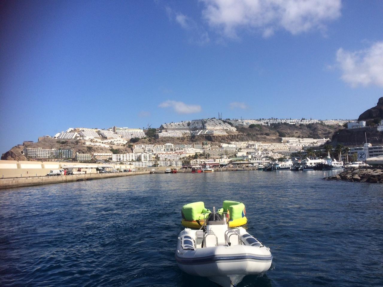 Leaving Puerto Rico on the Afrikat Catamaran